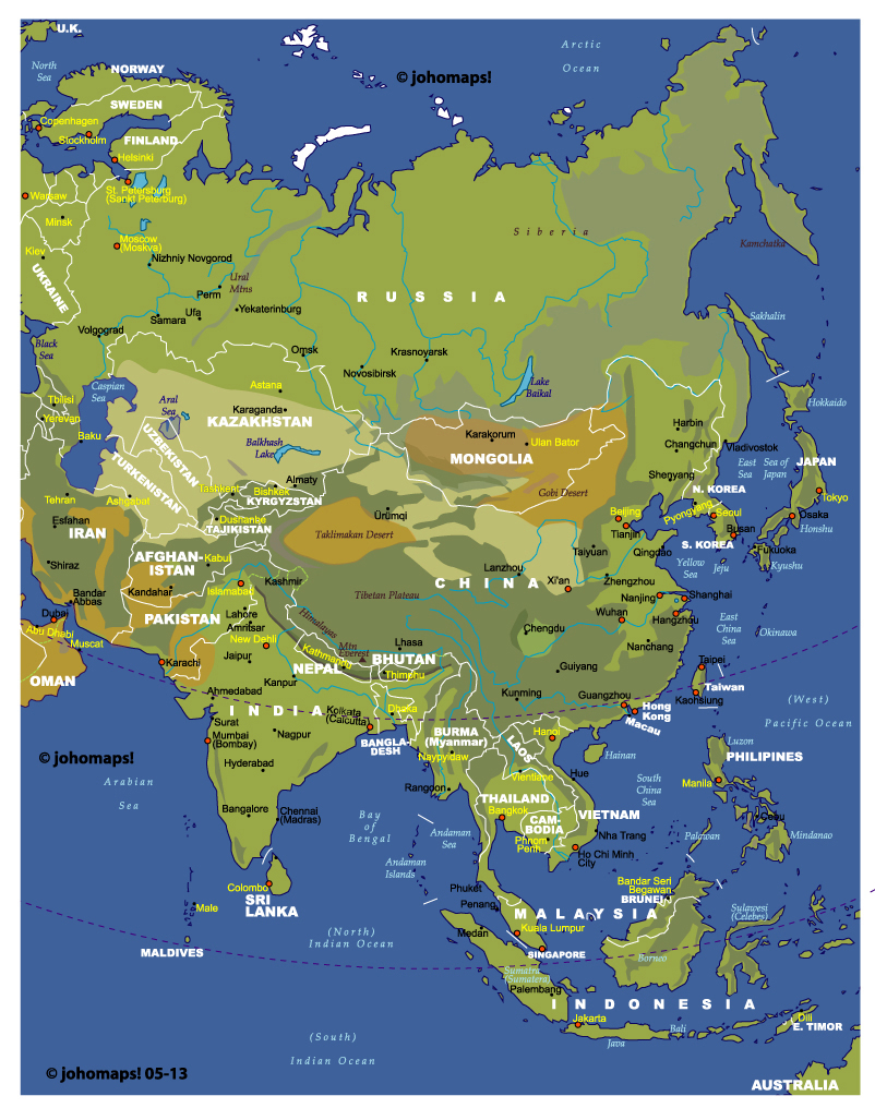 Atlas and maps online globes maps of the world worldmaps street asia map gumiabroncs Choice Image