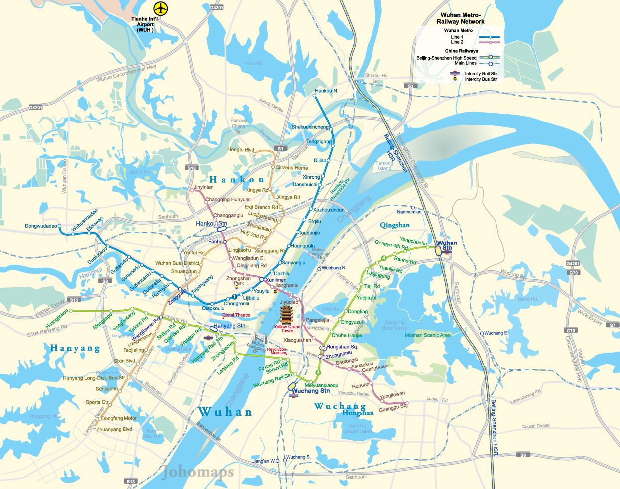 Metro Map of Wuhan JohoMaps