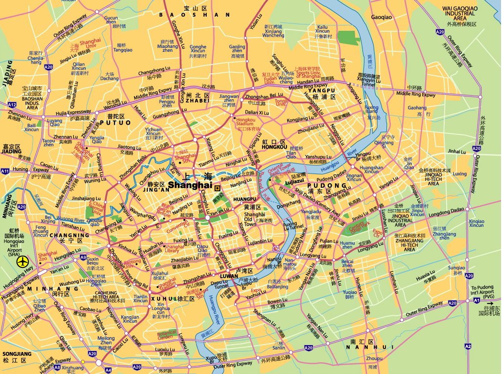 Map of Shanghai - JohoMaps  Map Of Shanghai on 2015 map of london, 2015 map of asia, 2015 map of singapore,