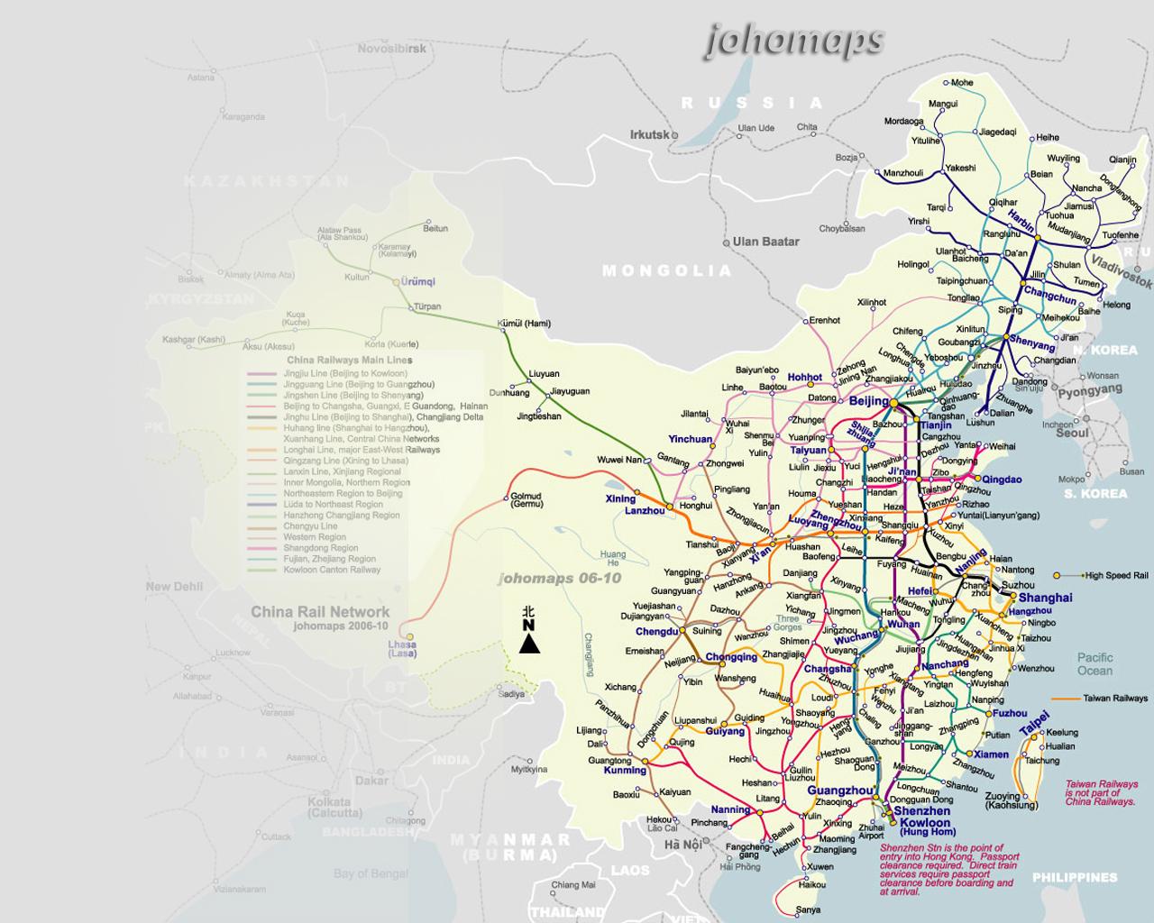 China Rail Map Mobile Wallpapers - JohoMaps