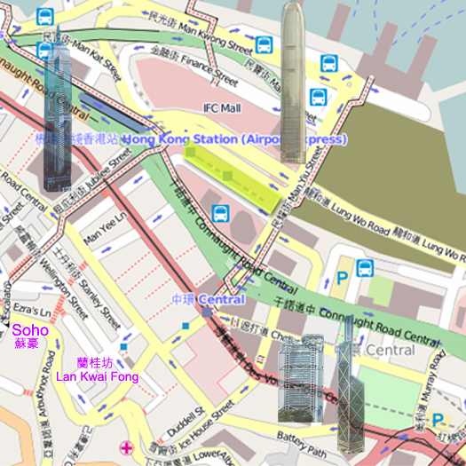 Central (also Central District; Chinese: 中環) is the central business district of Hong Kong. It is located in Central and Western District, on the north shore of Hong Kong Island, across Victoria Harbour from Tsim Sha Tsui, the southernmost point of Kowloon Peninsula.