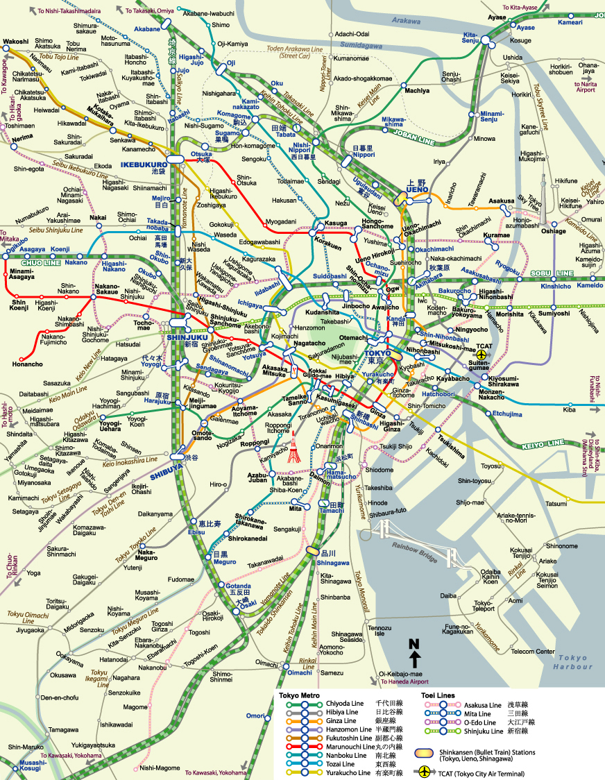 Схемы метро Японии.