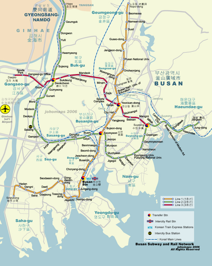 Subway Map of Busan