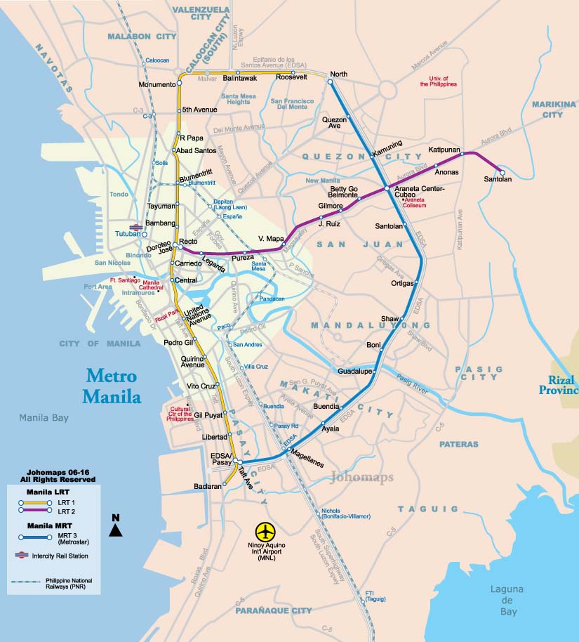 Maps of Manila  JohoMaps