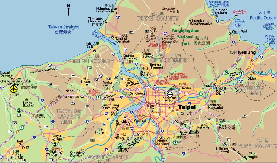 Maps of Taipei - JohoMaps Taipei Map