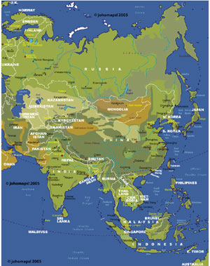 Maps Of Asia JohoMaps - Asia maps
