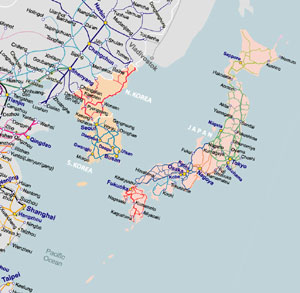 rail map of north asia