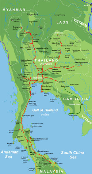 Thailand Topographic Map.Maps Of Thailand Johomaps