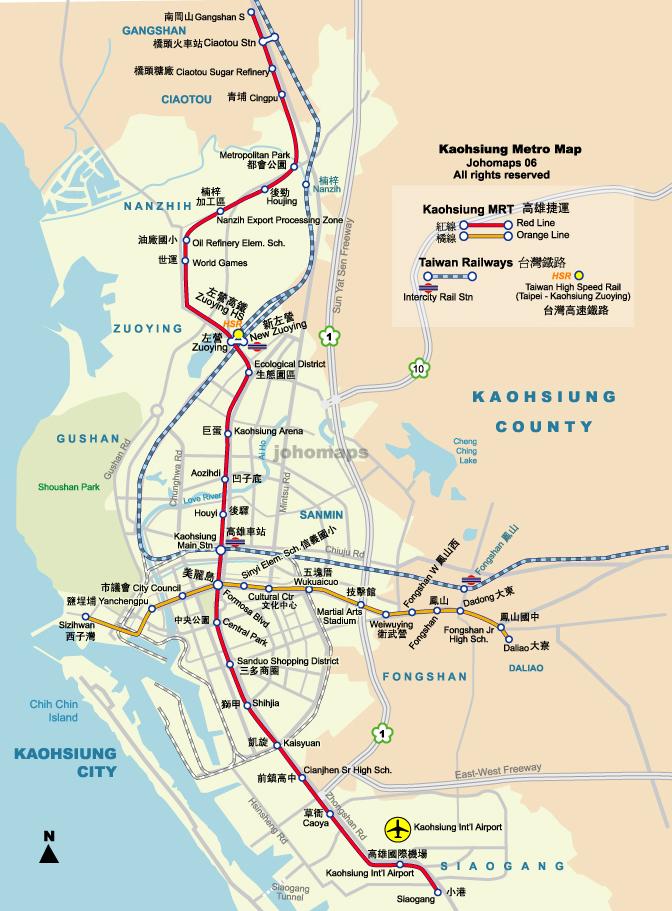 ō�號地圖 ɫ�雄捷運地圖