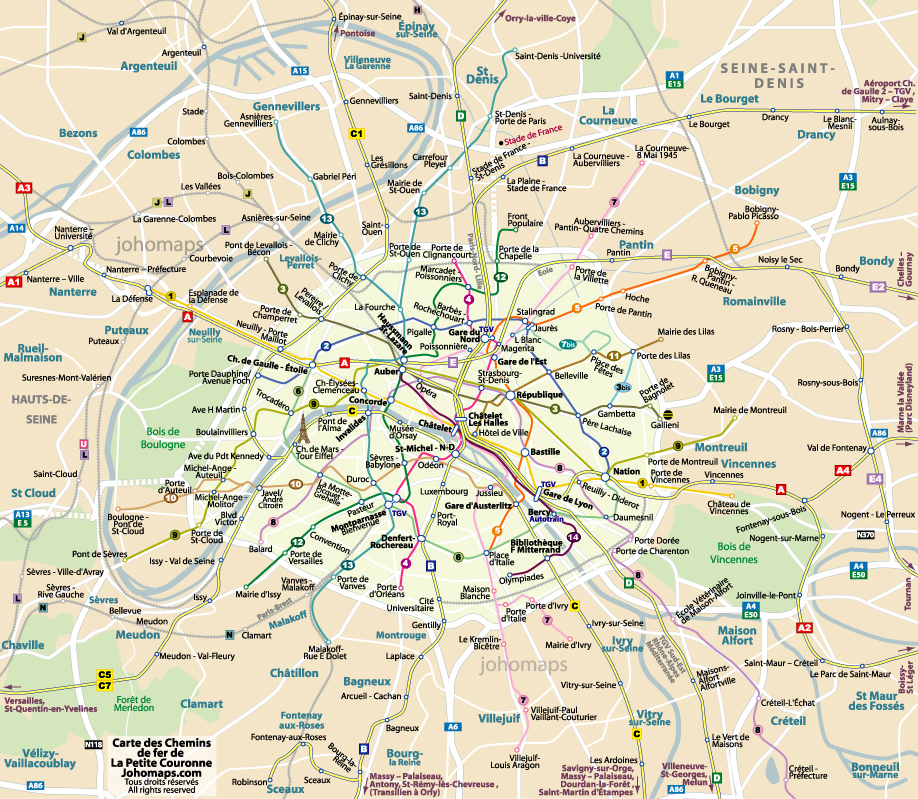 banlieue parisienne carte