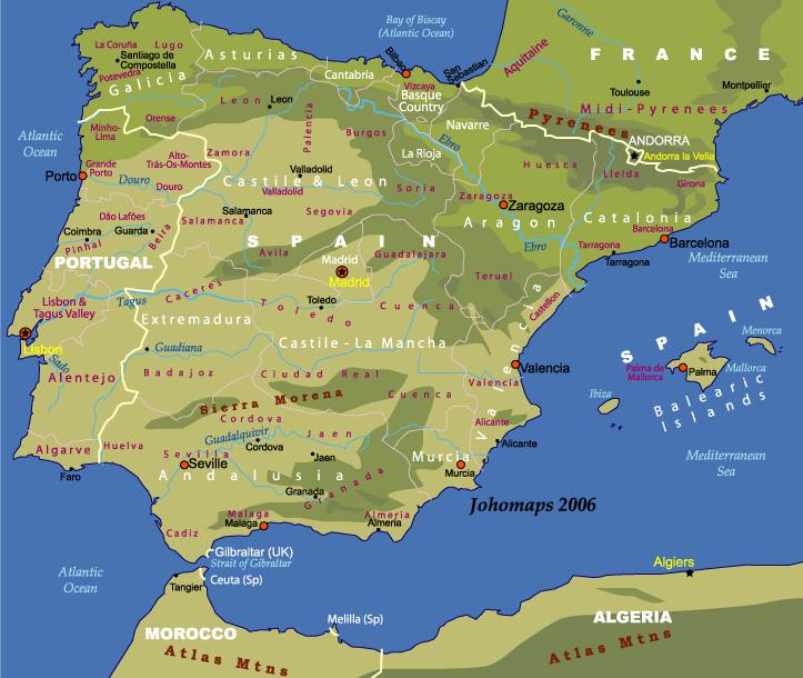 Iberian Peninsula Train Map