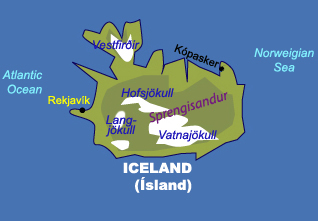 Maps of iceland johomaps map of iceland publicscrutiny Gallery