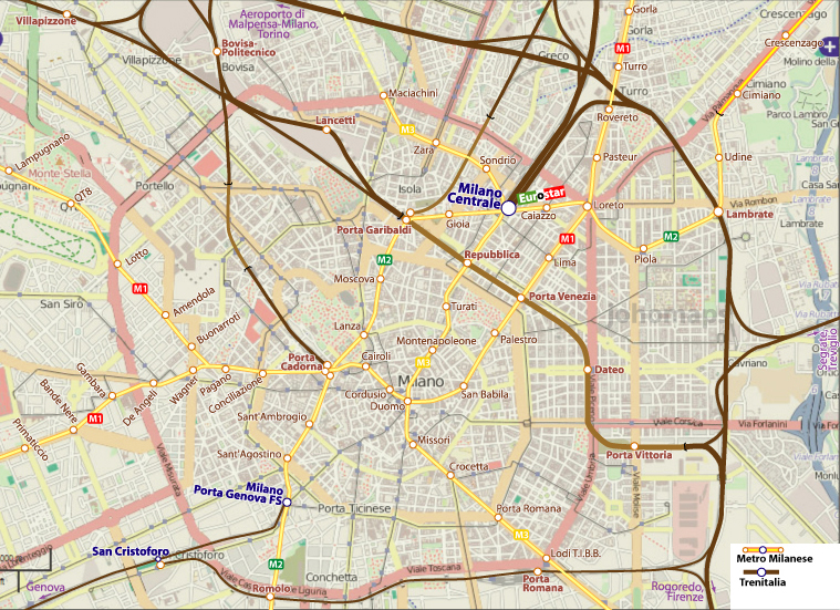 City Rail Map Of Milan Italy Johomaps: A Map Of Milan Italy At Infoasik.co