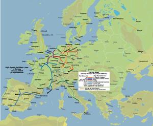 high speed rail of europe