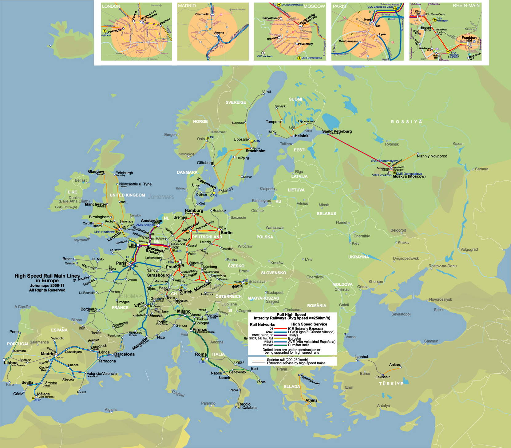 High Speed Rail of Europe