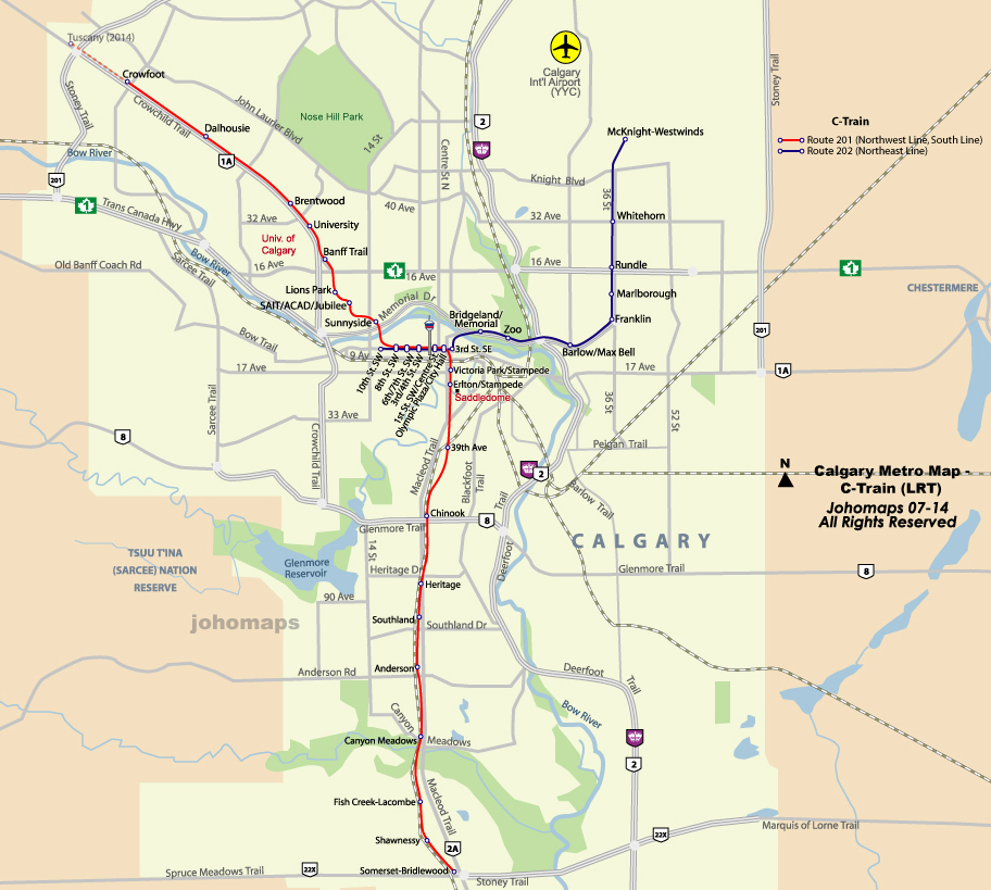 Calgary (AB) Canada  City pictures : Canada Calgary Map