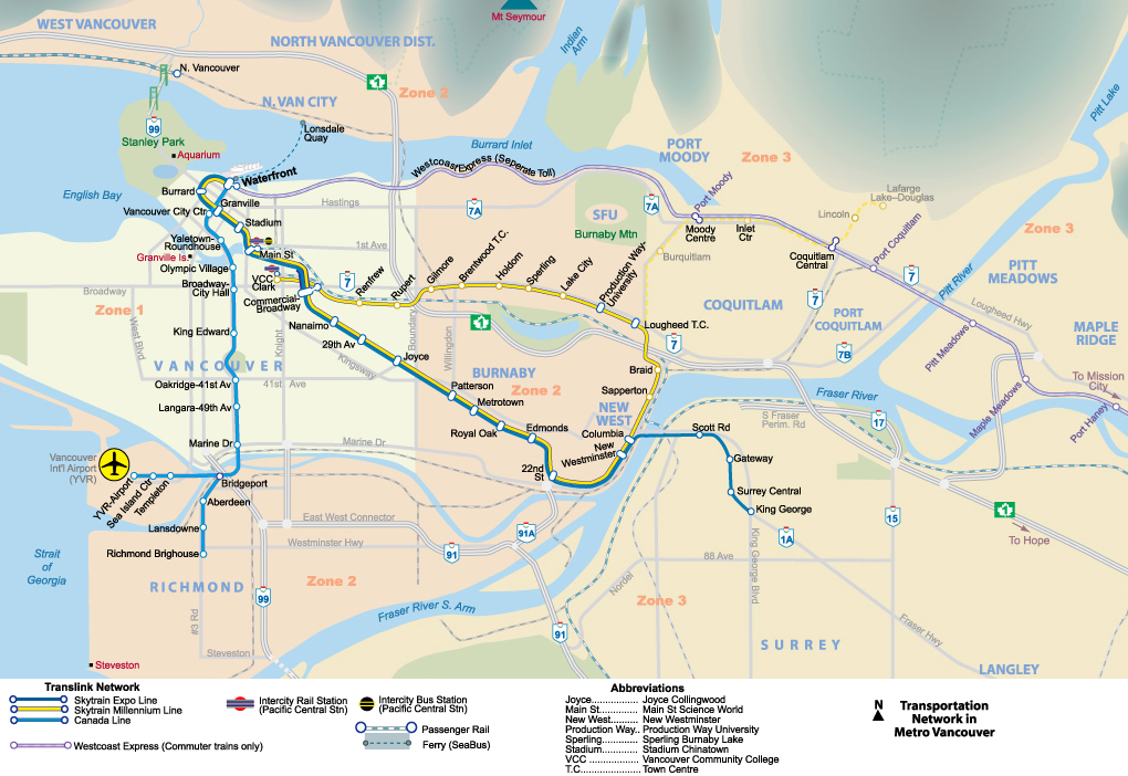 Interative Metro Map Of Vancouver Johomaps: Map Of Vancouver And Whistler Canada At Infoasik.co