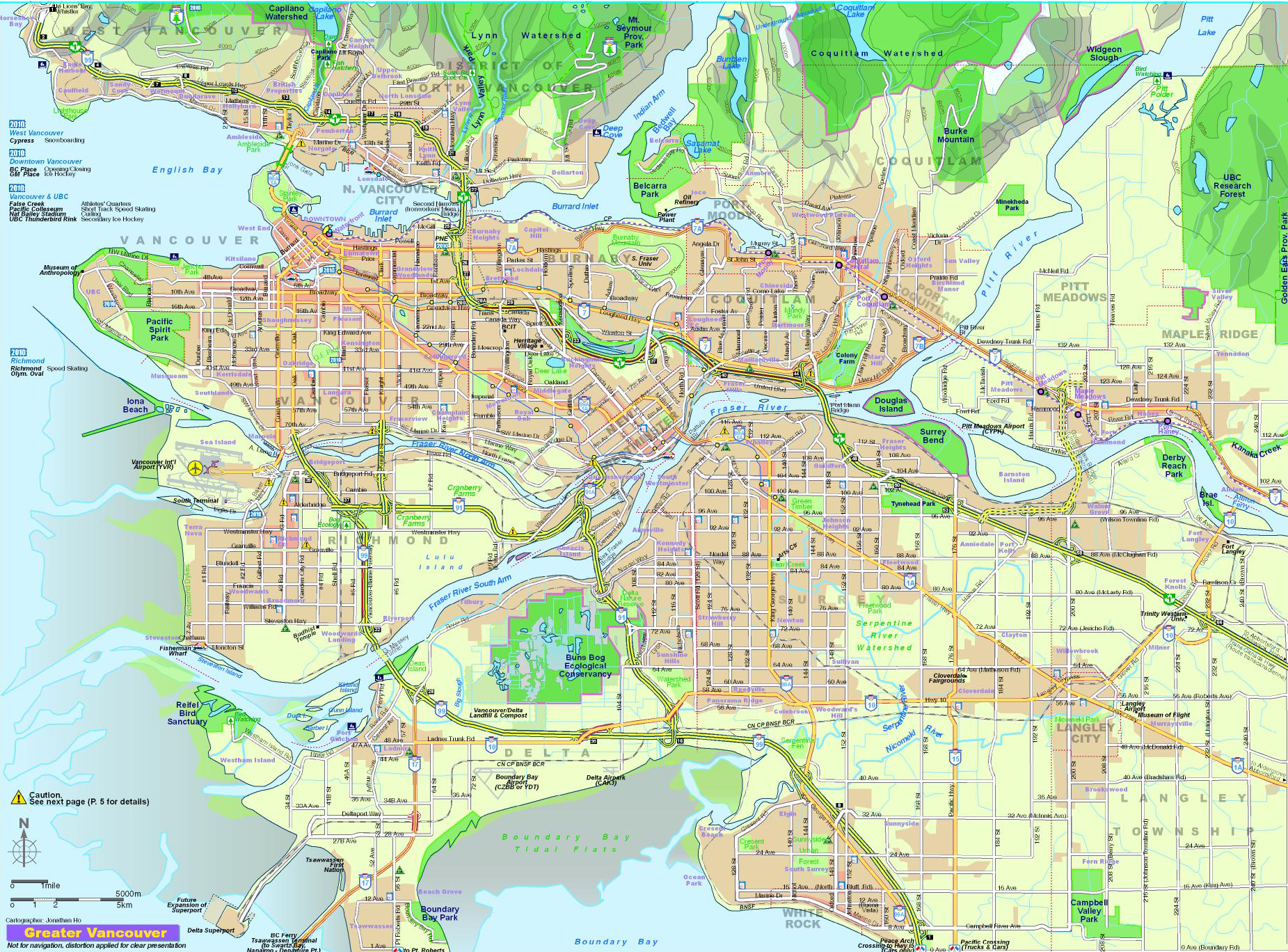 City Map of Vancouver / Plan ...