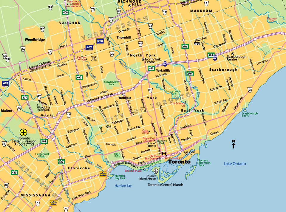 Map Of Canada Toronto Ontario.Maps Of Toronto Johomaps