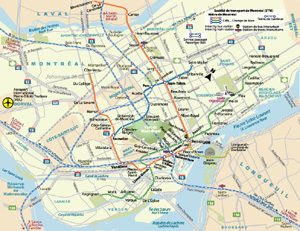 Montreal Subway Map Printable.Maps Of Montreal Johomaps