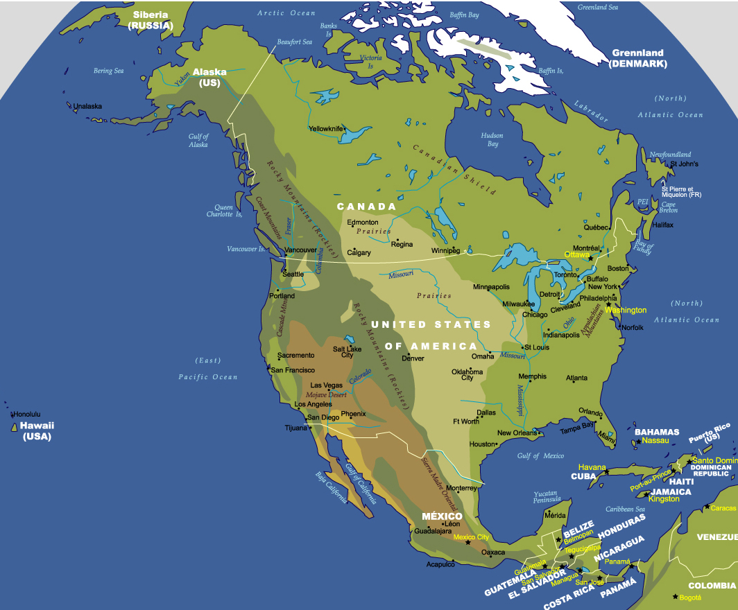 Map of North America - JohoMaps