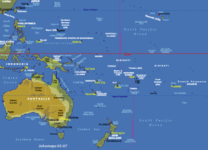 Maps Of Oceania JohoMaps - Physical map of oceania