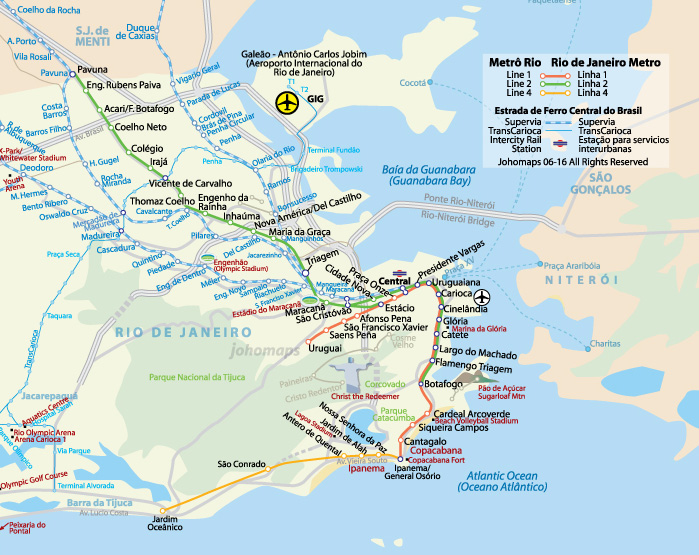 Metro Map of Rio de Janeiro - JohoMaps