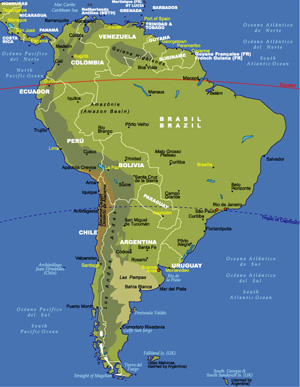 Maps Of South America JohoMaps - Map of south america