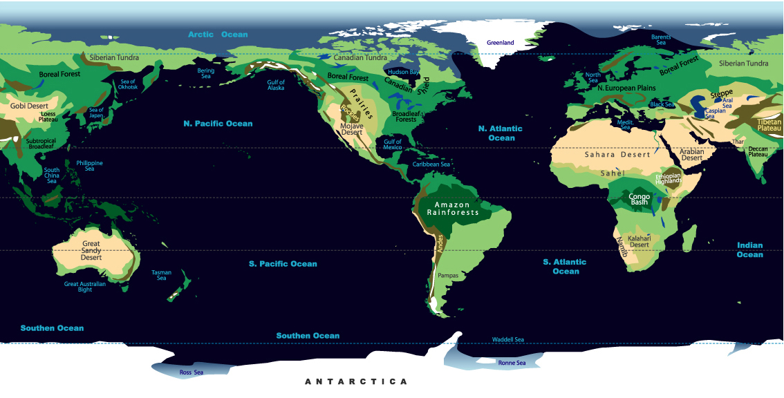 Biomes of the world johomaps ecological map of the world gumiabroncs
