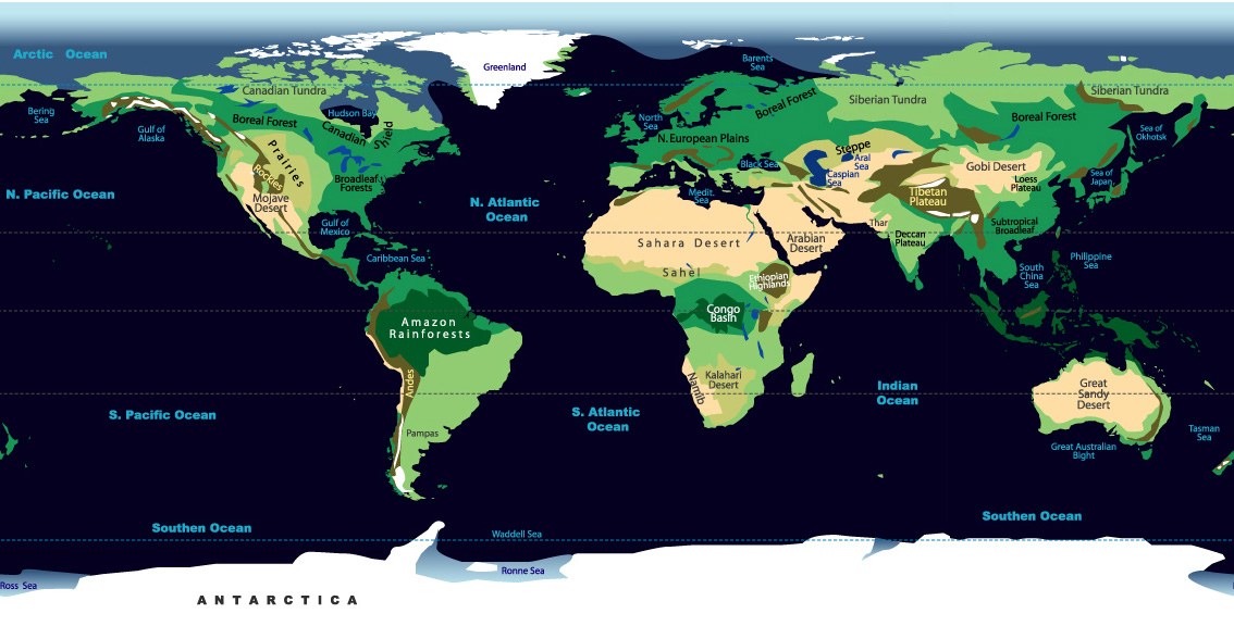 Biomes of the world johomaps see map with currents of the world gumiabroncs Choice Image
