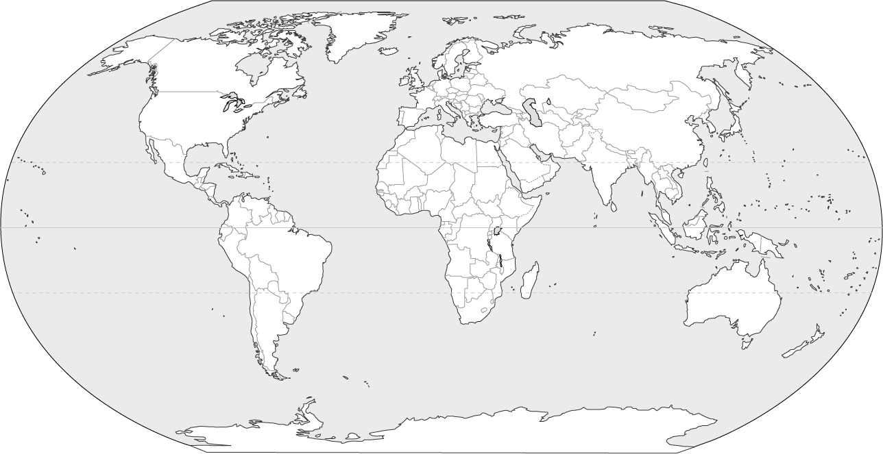 Blank World Map (Black and ...
