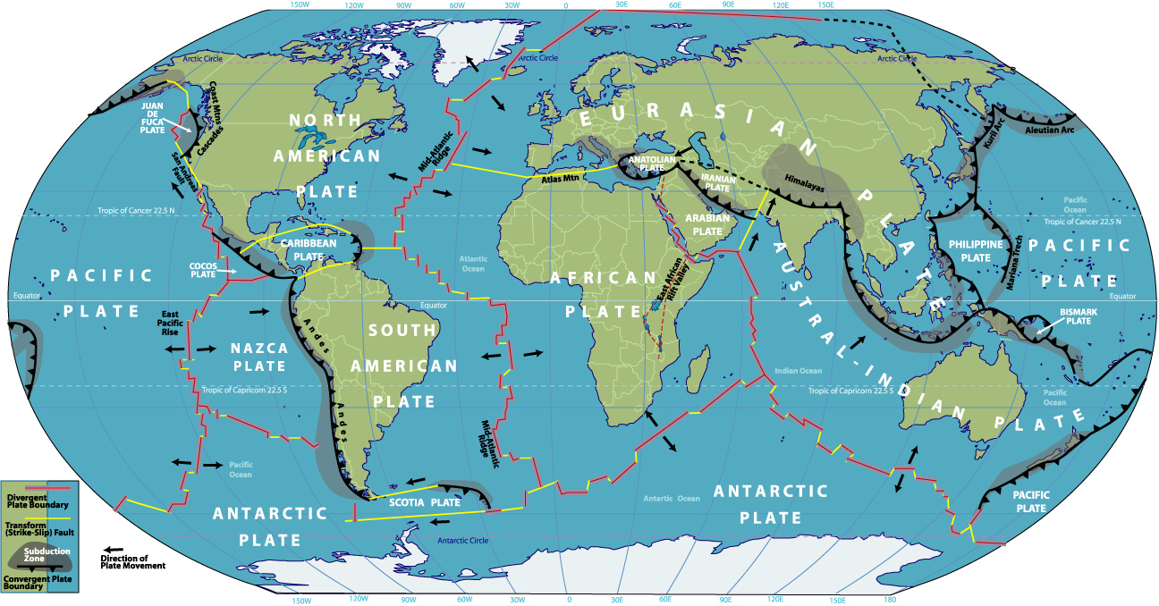 Tectonic plates of the world johomaps tectonic plates of the world gumiabroncs Images